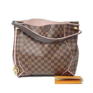Auth Louis Vuitton Caissa Damier Ebene Hobo Bag